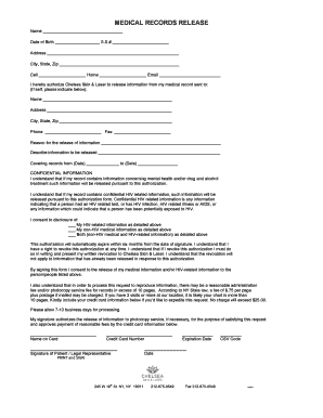 Authorization to release medical information form ny - Fill Out ...