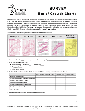 Use of Growth Charts - Canadian Paediatric Society