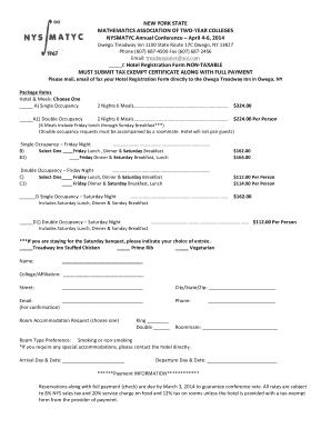 nys tax exempt form hotel - Edit Online, Fill, Print & Download ...