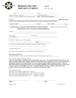 club sign up sheet template word