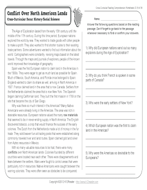 Fillable Online 5th Grade Reading Comprehension Worksheets ...