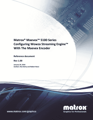 Fillable Online Matrox Maevex 5100 Series - How to Configure