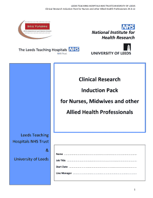 Nurse cv template uk fill print download online resume samples clinical research induction pack for nurses midwives and yelopaper Choice Image