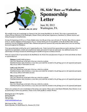 Event sponsorship letter forms and templates fillable printable 5k kids race walkathon sponsorship letter washingtoncma thecheapjerseys Images
