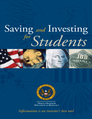 Fillable online saving and investing for students office of investor education and advocacy - Office of investor education and advocacy ...