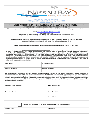 bank draft authorization form v.2013