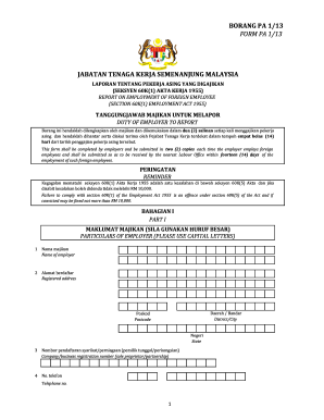 Borang Pa 2 13 Fill Online Printable Fillable Blank Pdffiller