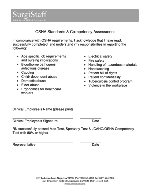 Printable osha physical exam requirements and Document