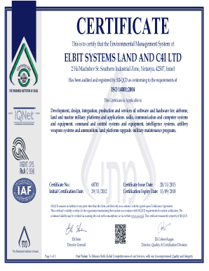 CERTIFICATE - Elbit Systems