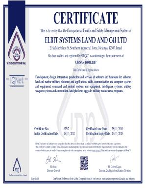 certificate elbit