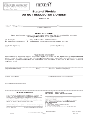 Bill Of Sale Form Florida Do Not Resuscitate Form Templates