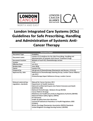 fillable online london integrated care systems icss guidelines for