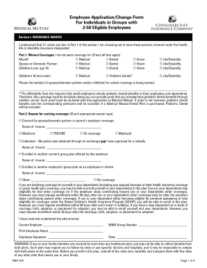 Employee Appl Change Form Groups w2-50 Eligible Employees
