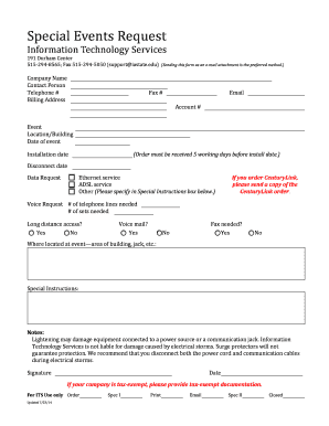 Fillable request for proposal information technology services
