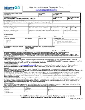 Fillable Online camdendiocese Universal Fingerprint Form IdentoGo ...