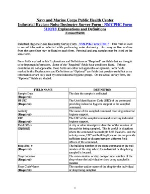 Fillable Online med navy Industrial Hygiene Noise Dosimetry Survey
