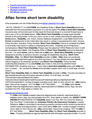 Baflac Formsb Short Term Disability Noipme Fill Online Printable