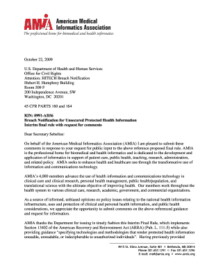 FINAL letter to DHHS Breach Notice102209doc