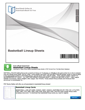 Basketball Lineup Sheets - nocReadCom