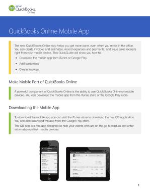 QuickBooks Online Mobile App Fill Online, Printable