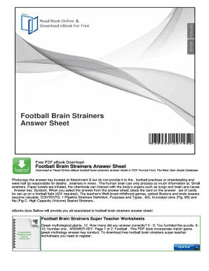 football brain strainers football scorebook pdf Forms and Templates - Fillable