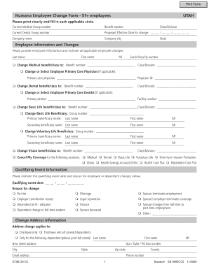 free employee status change form template fill print download