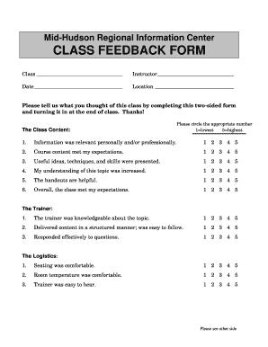 25 Printable Feedback Form For Seminar Templates Fillable Samples