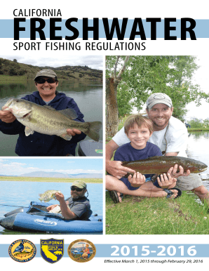 Fillable Online 2015-2016 Freshwater Sport Fishing Regulations - Fax