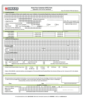 Know Your Customer KYC Form - Omaxe Fill Online, Printable