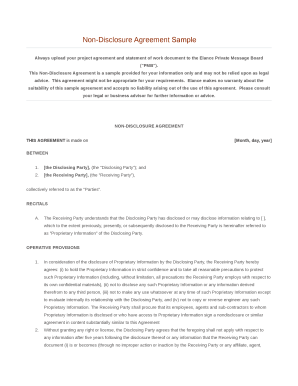 20 Printable Sample Non Disclosure Agreement Forms And