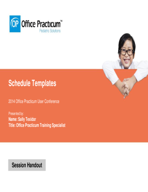 Schedule Templates - Office Practicum