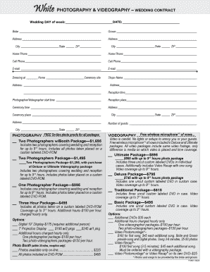 14 Printable Videography Contract Pdf Forms And Templates