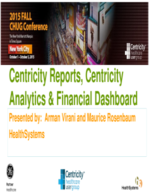 Centricity Reports Centricity Analytics amp Financial Dashboard