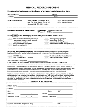 form medical records requestdoc