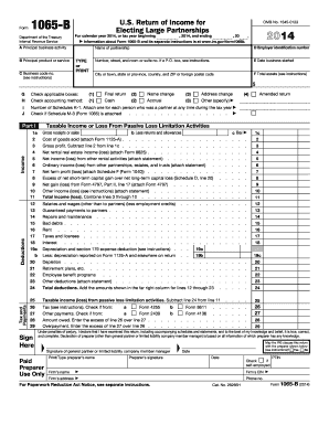 2014 Form 1065-B - Internal Revenue Service - irs