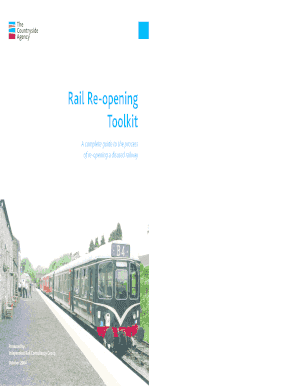 Toolkit Rail Re-opening - acorpukcom Fill Online, Printable