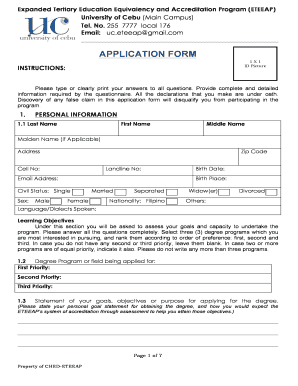 Fillable Online uc edu Download the application form here ...