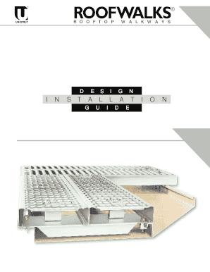 Unistrut-roofwalks-rooftop-walkway-installationpdf Fill Online