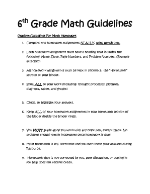 6th Grade Math Guidelines - mgsd70org