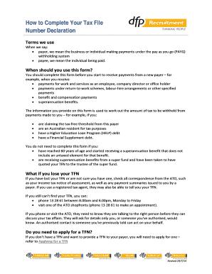 tax file number declaration pdf