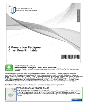 fillable online 6 generation pedigree chart free printable fax email