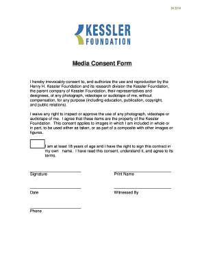 Fillable media consent form template - Edit, Print & Download ...