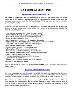 Fillable Online jansbooks DA FORM 2A USAR PDF - jansbooksbiz Fax ...