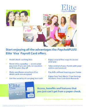 Editable payroll card fees - Fillable & Printable Online