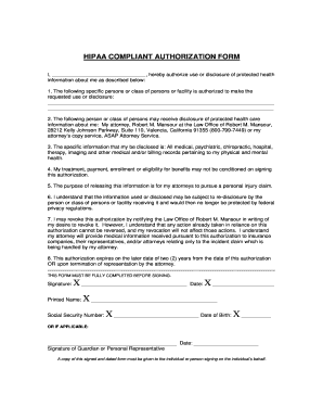 Hipaa Compliant Authorization Form California