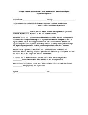 Justification Letter Sample.Fillable Online Sample Medical Justification Letter Broda