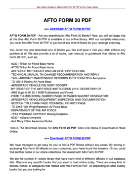 AFTO FORM 781A PDF