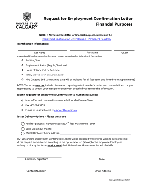 Sample business confirmation letter forms and templates fillable request for employment confirmation letter university of calgary ucalgary altavistaventures