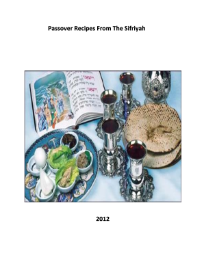 Passover Recipes From The Sifriyah - Beth Haverim Shir Shalom