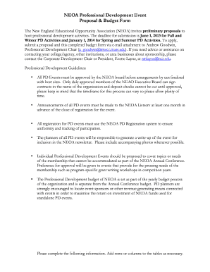 NEOA PD proposal form 2013 2014